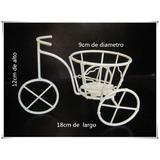 Adorno Bicicleta/portavela De Hierro