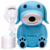 Inalador E Nebulizador Infantil Nebdog Azul - G-tech Bivolt