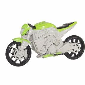 Moto Naked Grande Plástica Resistente 35cm - Verde P/ Natal