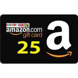 Amazon Gift Card Tarjeta Con Saldo Prepago Valor Usd 25