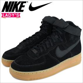 Tenis Nike Air Force 1 Hi Se Dama 23.5cm 860544 Bota Af1 Neg