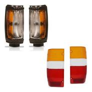 Jogo De Lanternas Dianteira E Traseira L200 Quadrada Gl/gls