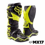 Bota Fox Racing Instinct Talla 9 (26.5cm) Negro/amarillo