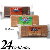 Doce De Leite Xamego Bom - Tabletes 240g (24 Unid Variadas)
