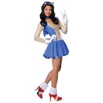 Disfraz Mujer Sonic Talla Chica Envio Gratis