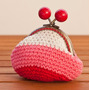 Monedero Tejido Al Crochet Broche Labrado Vintage