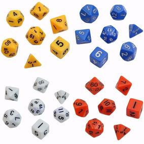 Dados Rpg Opacos Coloridos Dungeons And Dragons 7 Peças