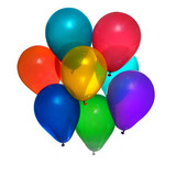 Balão/bexiga Lisa Nº 9 - Várias Cores - Pic Pic - 40 Pcts