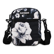 Shoulder Bag Bolsa Necessaire Pochete Everbags Floral Preto