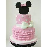 Torta Minie Mouse Con Volvan De Regalo