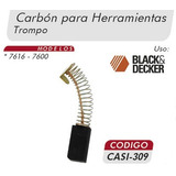 Carbones Trompo 7616-7600 Black&decker Casi 309