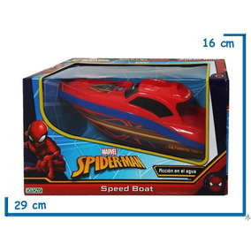 Lancha A Pila Spiderman Speed Boat