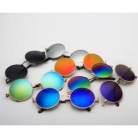 Óculos Sol Redondo Lennon Ozzy Lentes Espelhadas Frete Rs 10