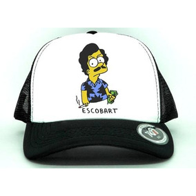 Boné Aba Curva Escobart Pablo Escobar Bart Simpsons Sátira f5bfb9ae18b