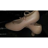 Capezio Zapatos Beige Para Jazz,flamenco Tango