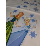 Lençol Solteiro Pintado À Mão- Frozen