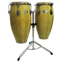 Ny Percussion Par De Congas Pele Animal C/tripé !!!