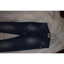 47 Street Pantalon De Jean Cbien Elastizado Con Tachitas