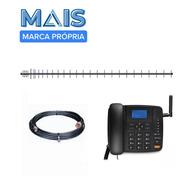 Kit Completo Telefone Rural Celular Para Qualquer Operadora!