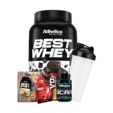 Combo Best Whey 900g + Bcaa 60 Caps + Brindes - Atlhetica