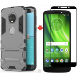 Funda Estuche Antigolpe + Vidrio 2,5d Motorola Moto G6 Play