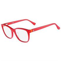 Óculos De Grau Calvin Klein Acetato Vermelho Ck5869604
