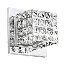 Arandela De Cristal Interna Inox Banheiro Quarto Sala Lavabo