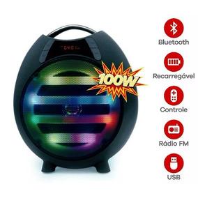 Caixa De Som Bluetooth,rádio, Usb Max Festa 100w Rms
