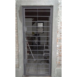 Puerta Reja Hierro 14mm Y Caño D 2mm Espesor Hierro Total