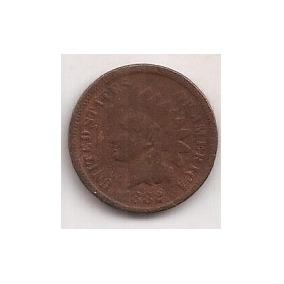 Eeuu Antigua Moneda 1 Cent Año 1882