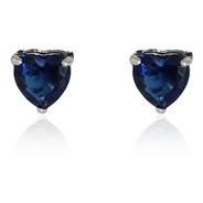Atacado Brinco Coração Azul Cristal Pedra Andreza Mota