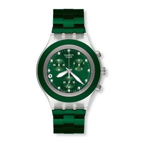 Reloj Swatch Irony Diaphane Chrono Full Blooded Verde Svck4