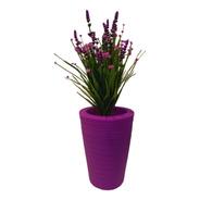Maceta Minimalista Plástico Con Planta Artificial Decorativa