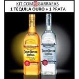 Kit Tequila Jose Cuervo 1 Ouro + 1 Prata 750ml + Brinde/copo