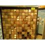 Megalistelo Malla Mosaico 30x30 Dorada Espectacular 385