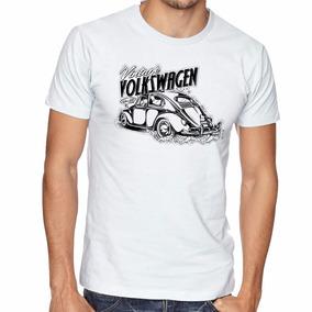 Camiseta Carro Fusca Volkswagen Blusas Manga Curta Tamanho