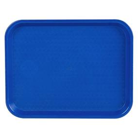 Charola De Servicio Comida Rápida 25 Cm X 35 Cm Azul