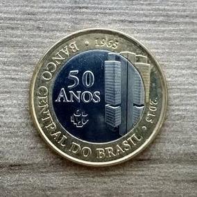 10 Moedas De 1 Real De 50 Anos Do Banco Central