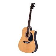 Guitarra Acustica Custom Con Corte Y Eq - Marron Clara Parqu