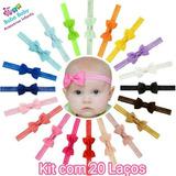 Faixas De Cabelo Tiara C Laço Peq Bebê Infantil Kit Com 20