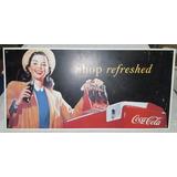Cartel De Coca Cola, Shop Refreshed, Usado, Buen Estado
