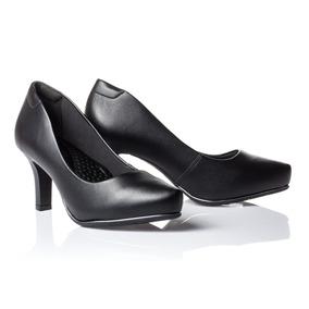 Sapato Feminino Preto Scarpin Comfortflex 1885301
