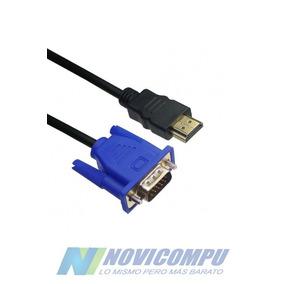 Cable Convertidor Hdmi Macho A Vga Macho 1.8 Mt Hd Pc A Tv
