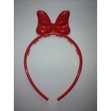 Vincha Roja Con Moño Tipo Minnie Mouse