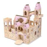 Castillo De Madera Estilo Medieval Rosa O Gris