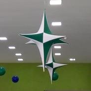 Kit 10 Estrelas Em Tecido (tamanho 1.05 Cm)