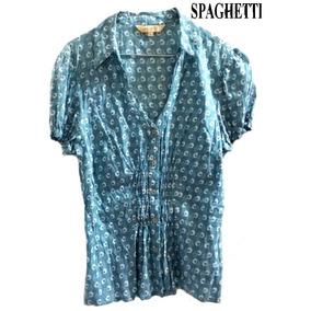 Blusa Azul Celeste ~ Spaghetti & Co. ~ Cositas.#1450