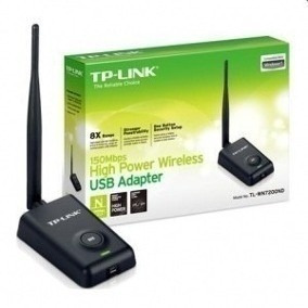 Receptor Wifi Tplink Inalámbrico Rompemuros 150mbps Wn7200nd