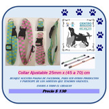 Collar Ajustable 25 Mm Extensible Desde 45 A 70cm