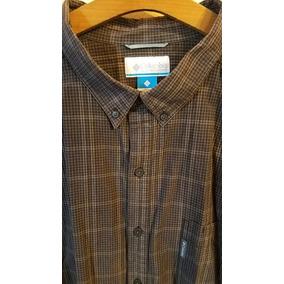 Camisa Columbia Talle Especial Grande 4xl Eeuu Negro/gris